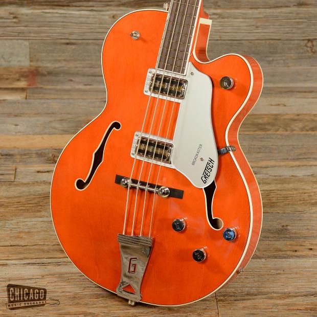 Gretsch G6119 Broadkaster Bass Orange 2011 (s197)   Reverb