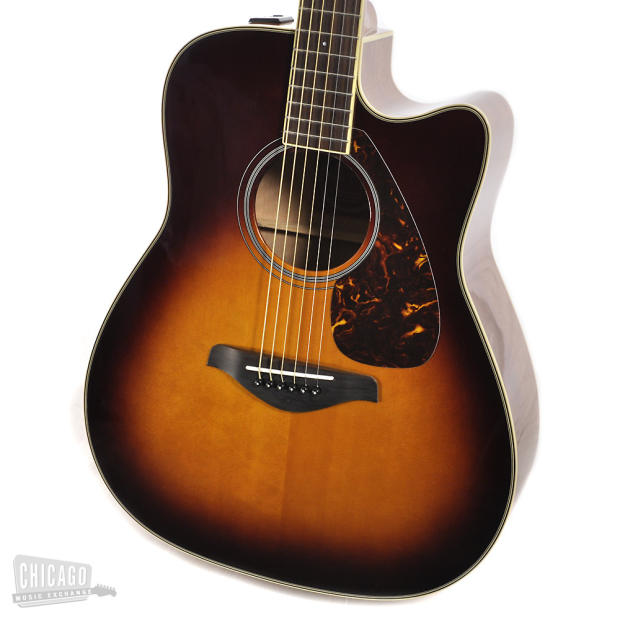 Yamaha fg series fgx720sca acoustic electric brown for Yamaha fgx720sca price