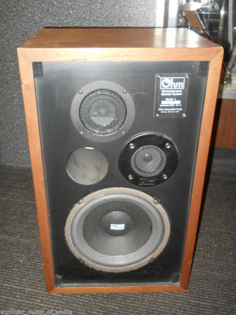 ohm acoustics model l 3 way 75 watt hi fi speaker pair. Black Bedroom Furniture Sets. Home Design Ideas