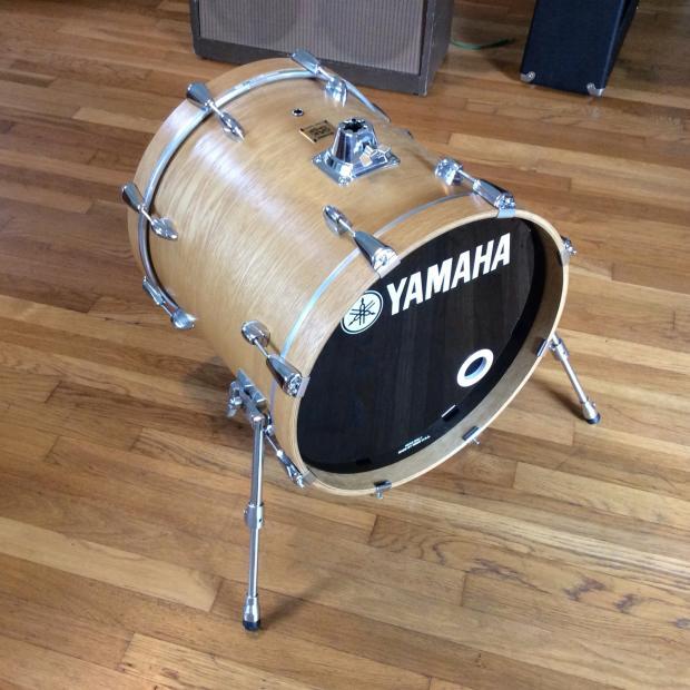 yamaha oak custom 18 kick drum bass natural jazz bop reverb. Black Bedroom Furniture Sets. Home Design Ideas