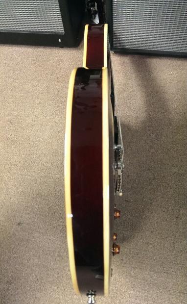 Samick La 30 Tb Maroon Hollow Body Electric Guitar Dual