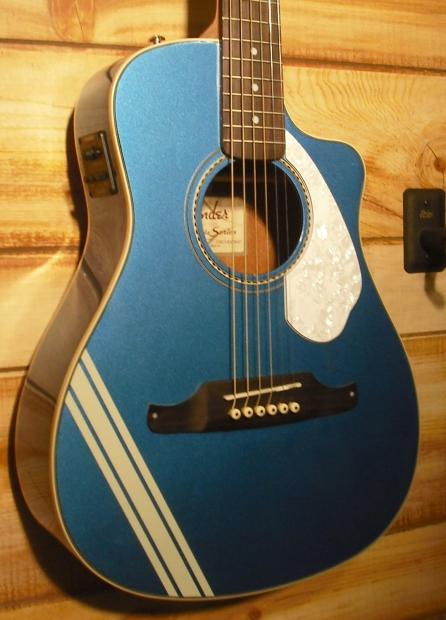 new fender malibu ce mustang acoustic electric guitar lake placid blue reverb. Black Bedroom Furniture Sets. Home Design Ideas