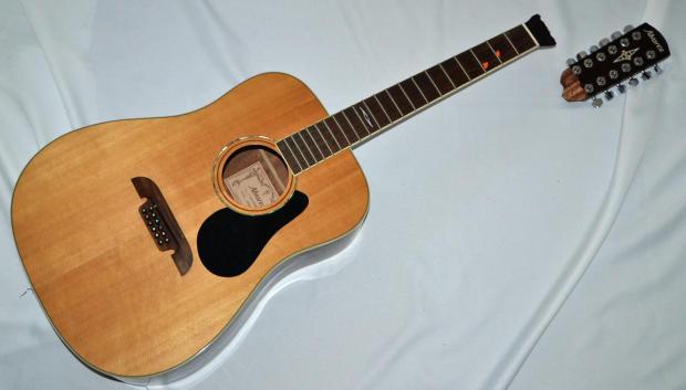 alvarez artist 60 series ad60 12 dreadnought 12 string acoustic guitar repair project broken. Black Bedroom Furniture Sets. Home Design Ideas
