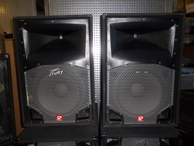 peavey sp2 two way speaker cabinets pair of 2 reverb