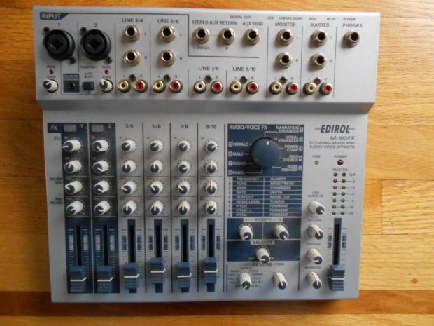 edirol m 100fx 10 channel mixer audio voice effects reverb. Black Bedroom Furniture Sets. Home Design Ideas