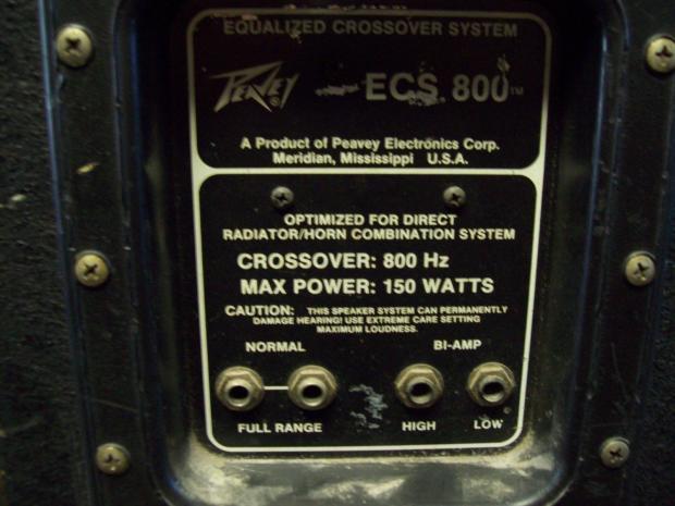 Peavey Ecs800 Black Widow Equipped 1x15 Quot Cabinet W