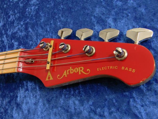arbor vintage 1985 mini p bass g590 red short scale maple fretboard neck red body reverb. Black Bedroom Furniture Sets. Home Design Ideas