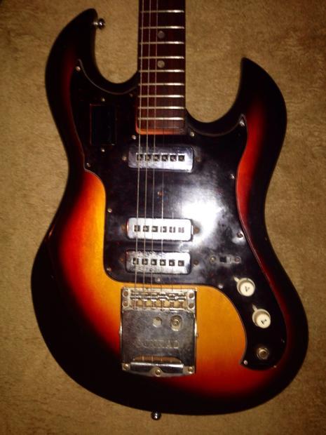 vintage 1970 39 s conrad electric guitar made in japan reverb. Black Bedroom Furniture Sets. Home Design Ideas