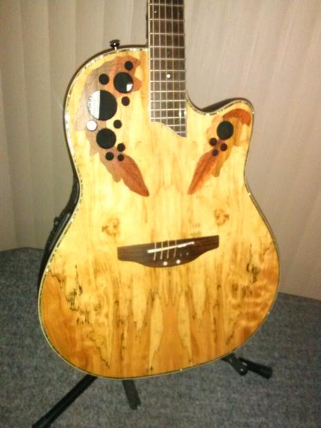Spalted Maple Guitar Ovation Ovation Cc44 Spalted Maple