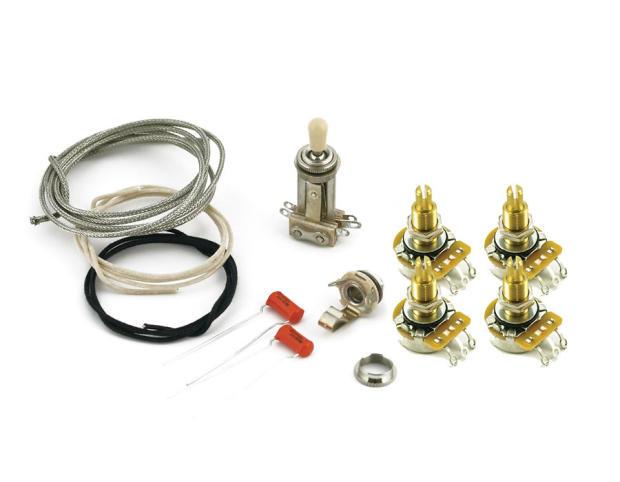 gibson les paul wiring kit with cts 550k pots orange drop. Black Bedroom Furniture Sets. Home Design Ideas
