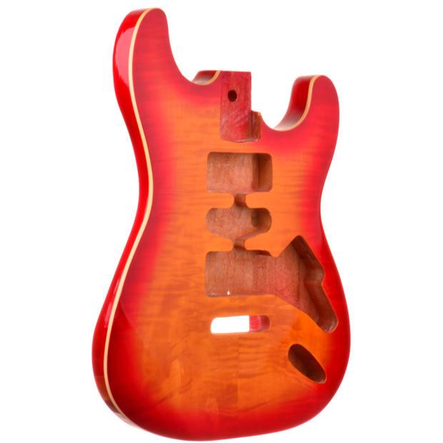 Honey Sunburst Mahogany Flamed Top Stratocaster Style