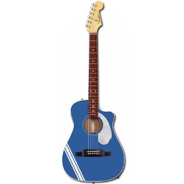fender malibu ce mustang lake placid blue 6 string folk cutaway acoustic electric guitar reverb. Black Bedroom Furniture Sets. Home Design Ideas