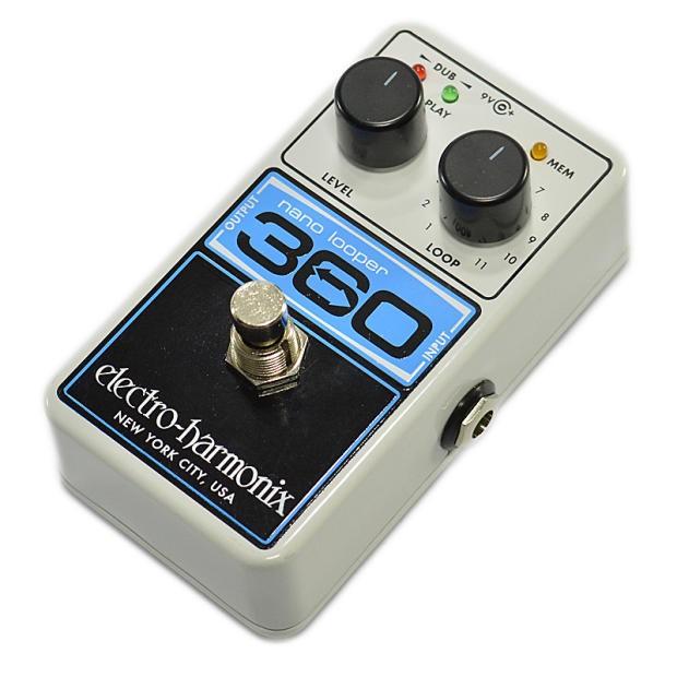 electro harmonix ehx nano looper 360 electric guitar loop effects pedal image. Black Bedroom Furniture Sets. Home Design Ideas