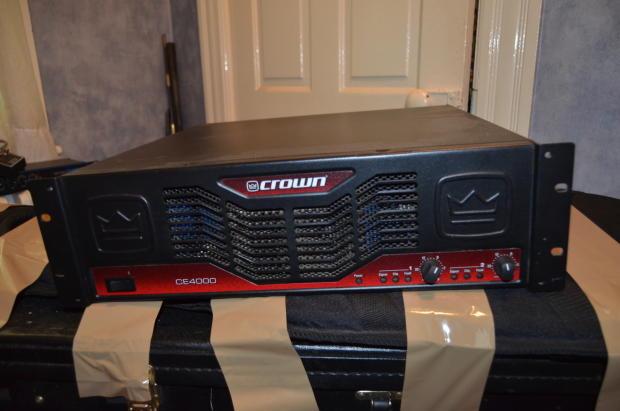 crown ce 4000 power amp black red reverb. Black Bedroom Furniture Sets. Home Design Ideas