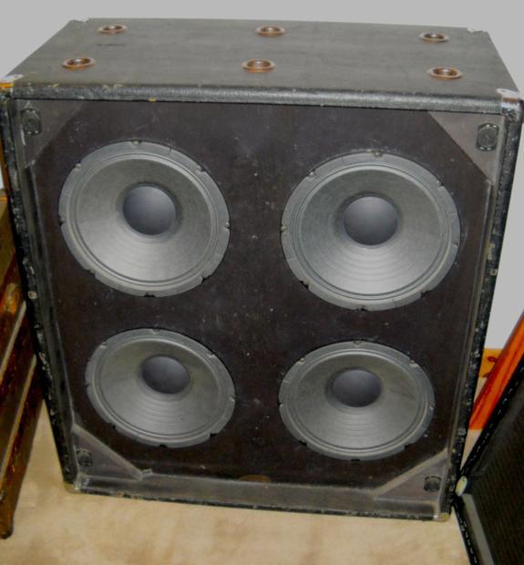 ampeg b40 v4 vintage 4x10 bass guitar cabinet upgraded eminence speakers massachusetts ne. Black Bedroom Furniture Sets. Home Design Ideas