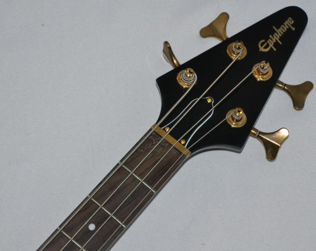 epiphone limited edition korina flying v bass guitar us seller black reverb. Black Bedroom Furniture Sets. Home Design Ideas