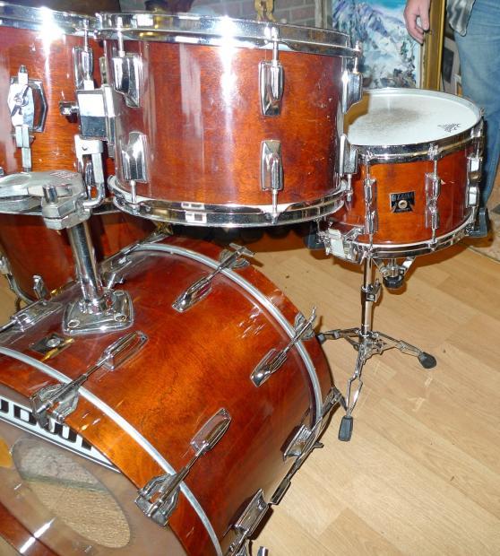 Tama Superstar 1982 Mahogany Lacquer Drum Set Reverb