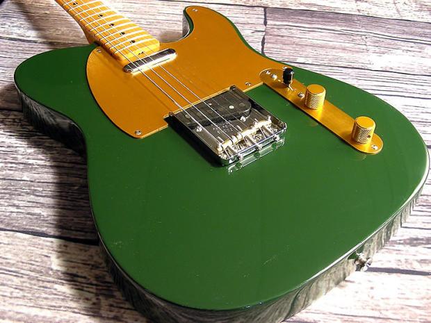 fender 1952 telecaster reissue in gretsch cadillac green reverb. Black Bedroom Furniture Sets. Home Design Ideas