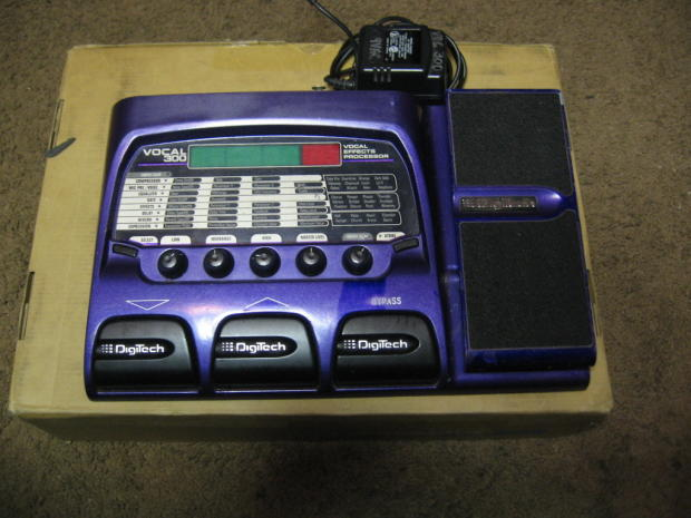 Vintage digitech vocal 300 classic vocal effects pedal for Classic house vocals acapella