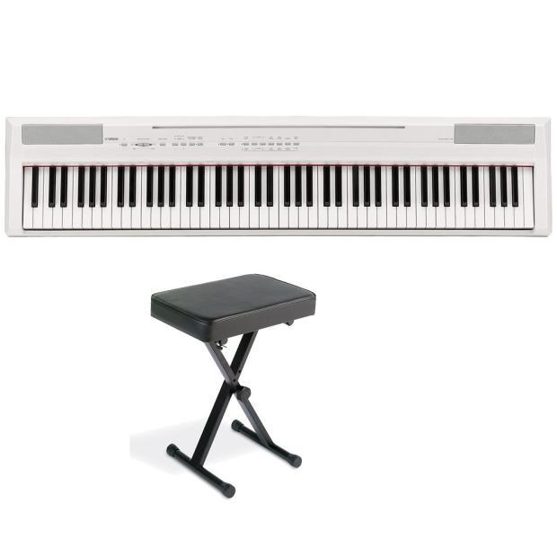 yamaha p105 p series 88 key digital piano white bundle w