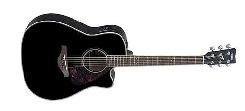 Yamaha fgx720sca bl acoustic electric guitar black reverb for Yamaha fgx720sca price