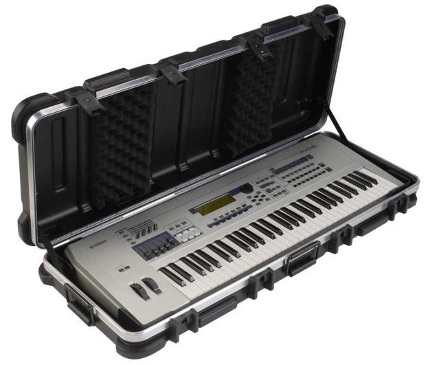 Skb 76 flight keyboard case 2013 black reverb for Yamaha mx61 specs