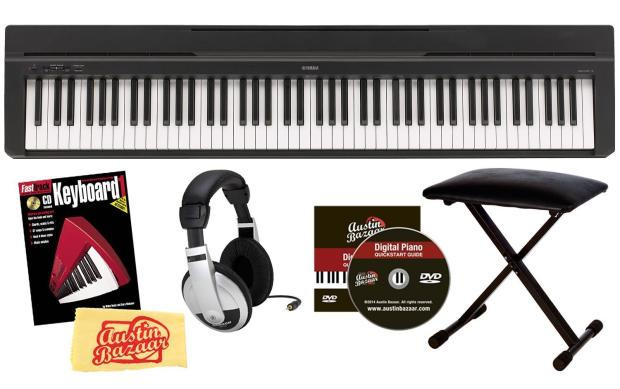 Yamaha p 35 88 key digital piano bundle with bench for Yamaha p series p35b