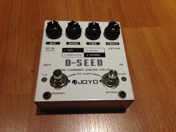 joyo d seed dual delay guitar effects pedal w tap tempo reverse and modulation echo dseed reverb. Black Bedroom Furniture Sets. Home Design Ideas