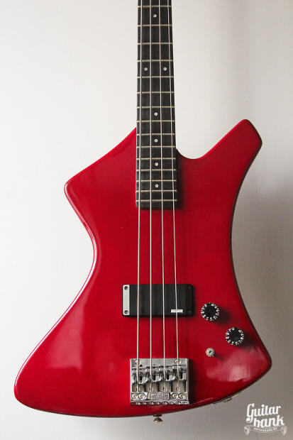 vintage rare washburn explorer bass b5 1985 red reverb. Black Bedroom Furniture Sets. Home Design Ideas