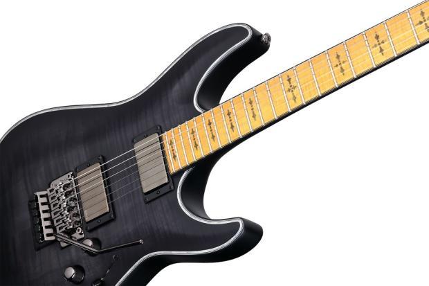 schecter hellraiser extreme c 1 fr m maple see thru black satin stbls new electric guitar c1. Black Bedroom Furniture Sets. Home Design Ideas