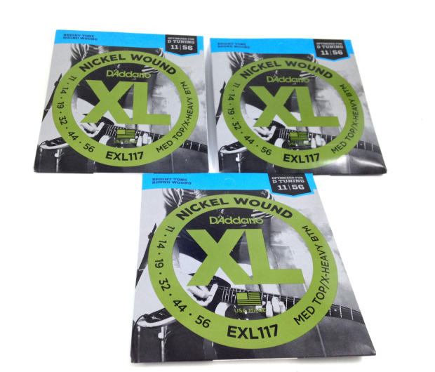 d 39 addario exl117 electric guitar strings for drop d tuning 3 pack image. Black Bedroom Furniture Sets. Home Design Ideas