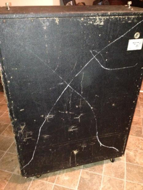 vintage fender bassman v t 15 2x15 speaker bass cabinet cab 1970 reverb. Black Bedroom Furniture Sets. Home Design Ideas