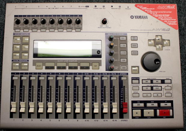 Yamaha 16 track digital multitrack recorder aw16 g user manual