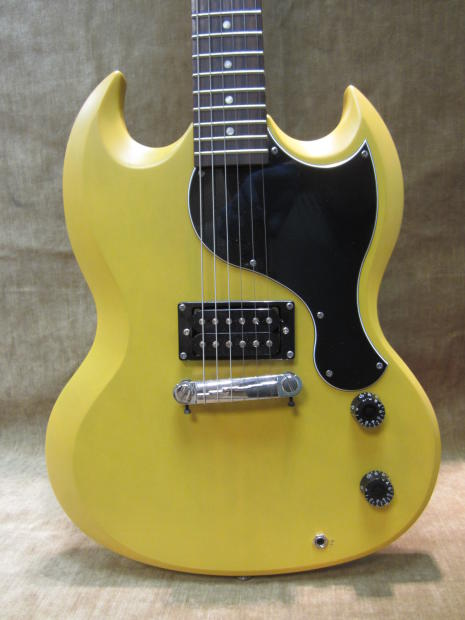 2011 epiphone sg jr limited edition custom shop faded worn tv yellow rare model free us shipping. Black Bedroom Furniture Sets. Home Design Ideas