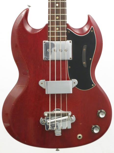 1962 gibson eb 0 bass cherry red in great original condition string mute 4231 reverb. Black Bedroom Furniture Sets. Home Design Ideas