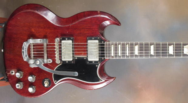 1961 gibson les paul standard sg cherry reverb. Black Bedroom Furniture Sets. Home Design Ideas