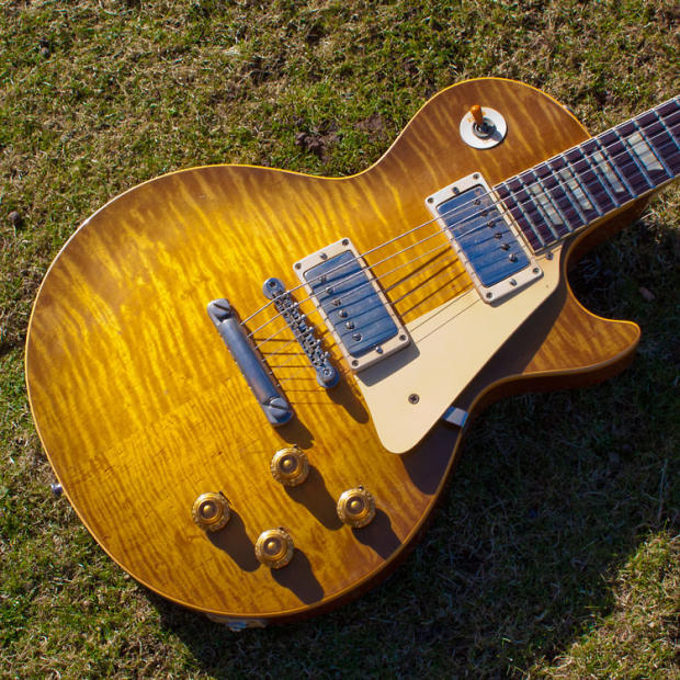 Gibson Auto Sales >> 1959 Gibson Les Paul Standard 'Grainger Burst'   Reverb