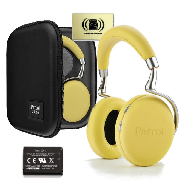 Parrot Zik 2.0 Yellow Wireless Stereo Bluetooth Headphones