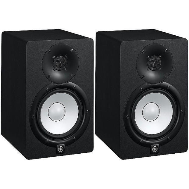 yamaha hs7 active powered studio monitors pair hs 7 reverb. Black Bedroom Furniture Sets. Home Design Ideas