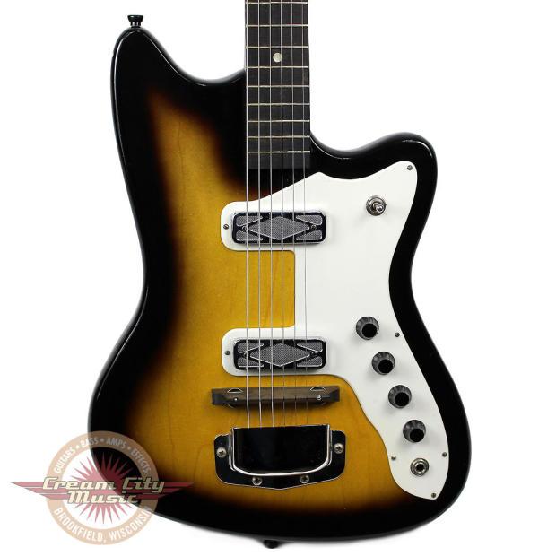 Vintage Silvertone Bobcat Electric Guitar Sunburst | Reverb
