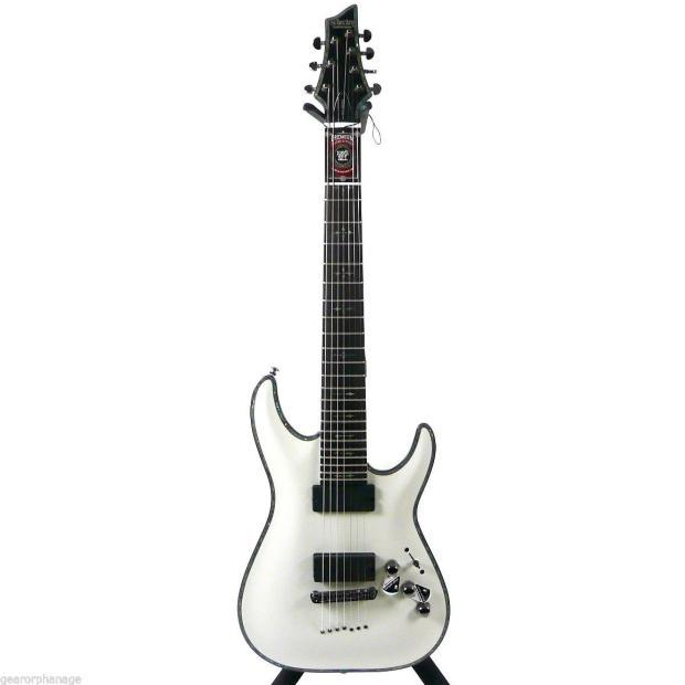 schecter hellraiser c 7 gloss white wht electric guitar c7 7 string guitar reverb. Black Bedroom Furniture Sets. Home Design Ideas