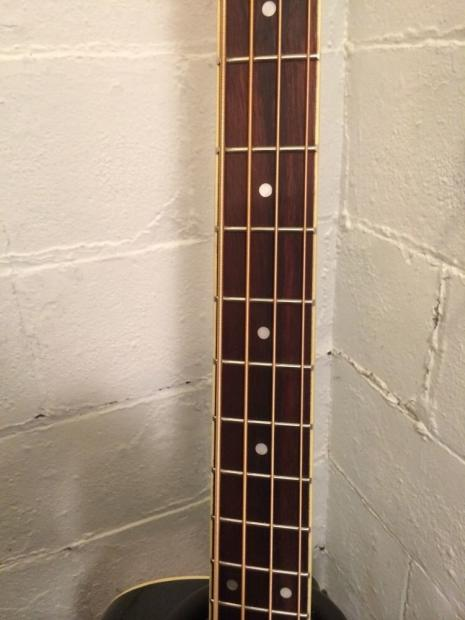 ibanez aeb5e black acoustic electric bass guitar built in tuner pre amp eq reverb. Black Bedroom Furniture Sets. Home Design Ideas