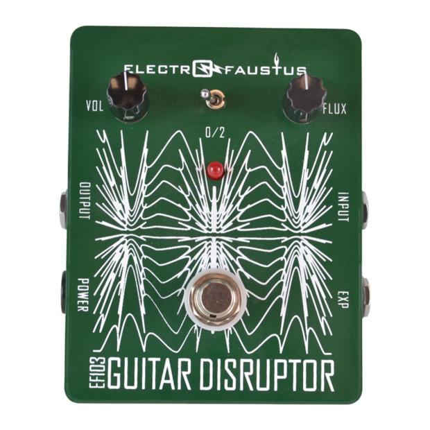 electro faustus noise devices guitar disruptor ef103 overdrive octave oscillation green string. Black Bedroom Furniture Sets. Home Design Ideas