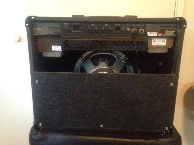marshall jcm 600 tube guitar amp combo amplifier w 12 speaker footswitch cover reverb. Black Bedroom Furniture Sets. Home Design Ideas