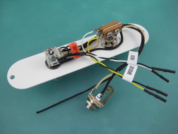 telecaster cabronita pawn shop volume tone mod wiring harness reverb