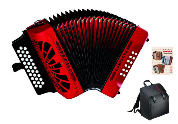 Hohner Hohner Compadre Red Accordion - G/C/F | Reverb