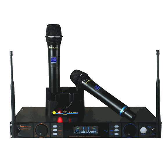 idolpro idolpro uhf 398 rechargeable wireless microphone system reverb. Black Bedroom Furniture Sets. Home Design Ideas