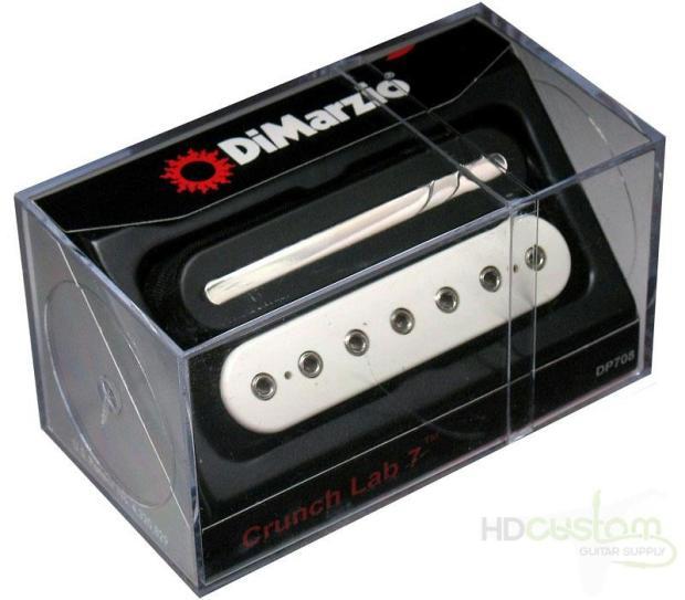 dimarzio dp708 crunch lab 7 string humbucker guitar pickup black white reverb. Black Bedroom Furniture Sets. Home Design Ideas