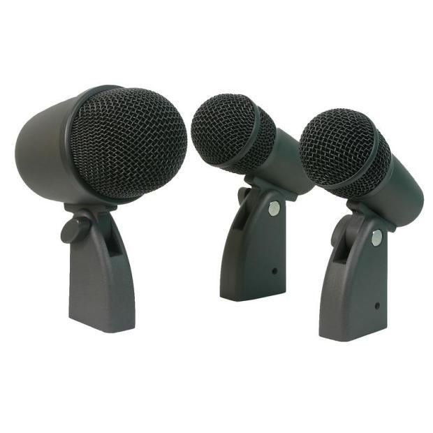 osp dk 3 drum mic microphone kit 3 microphones bass tom snare reverb. Black Bedroom Furniture Sets. Home Design Ideas