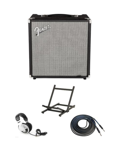 rumble 25 bass guitar amp with headphones cable amp stand reverb. Black Bedroom Furniture Sets. Home Design Ideas